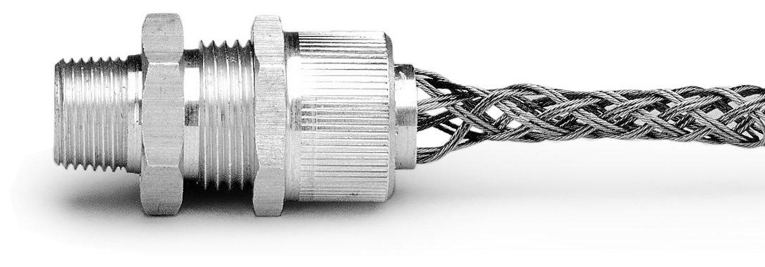 Leviton L7701 3/8-Inch, Straight, Male, Aluminum Body, Deluxe Cord Sealing Strain-Relief, .187 to .250 Cord Range