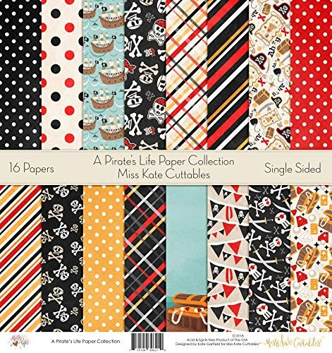Pattern Paper Pack - A Pirate's Life - Scrapbook Specialty Paper Single-Sided 12