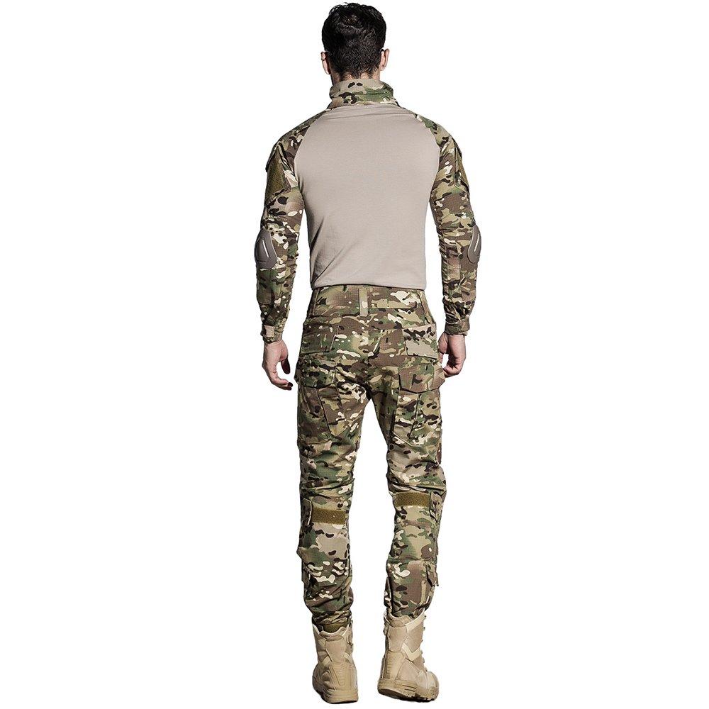 CedarAct Camo BDU - Pantalón de Uniforme de Combate con Codo y Rodilleras