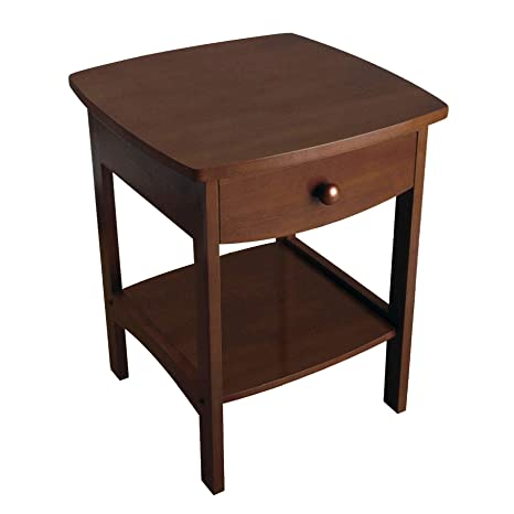 Amazon Com Winsome Wood 94918 Claire Accent Table Walnut Kitchen