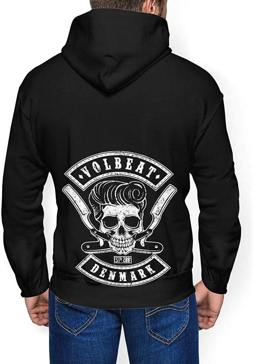 Volbeat Mens Winter Jacket Clothes Plus Velvet Long Sleeve Hooded Sweat Shirt Pullover