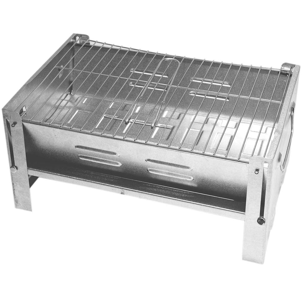 faltbare mini Klappgrill als Tischgrill Standgrill Barbecue outdoor Party ideal f/ür Picknick Camping Garten DeltaSat MobiGrill Holzkohlegrill BBQ Picknickgrill Campinggrill Grill