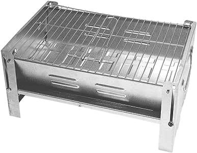 DeltaSat stabiele mini-grill, praktische reisgrill met afneembaar grillrooster, gemakkelijk te reinigen campinggrill