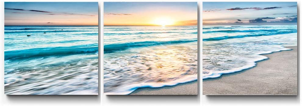 Geeduo Beach Wall Decor Canvas Beach Wall Art Wall Decor for Living Room Farmhouse Decor Dorm Room Wall Decor Ideas Bathroom Wall Art Decor 16