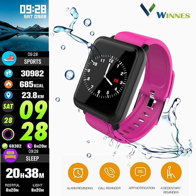 Amazon.com: Reloj inteligente Winnes, monitor de ritmo ...