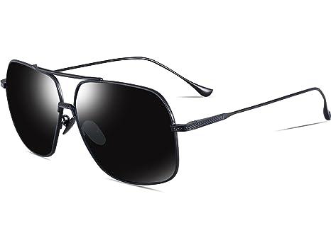 9435833c21e ATTCL Men s HD Polarized Navigator Sunglasses for Men Driving Fishing Golf  T005 Black