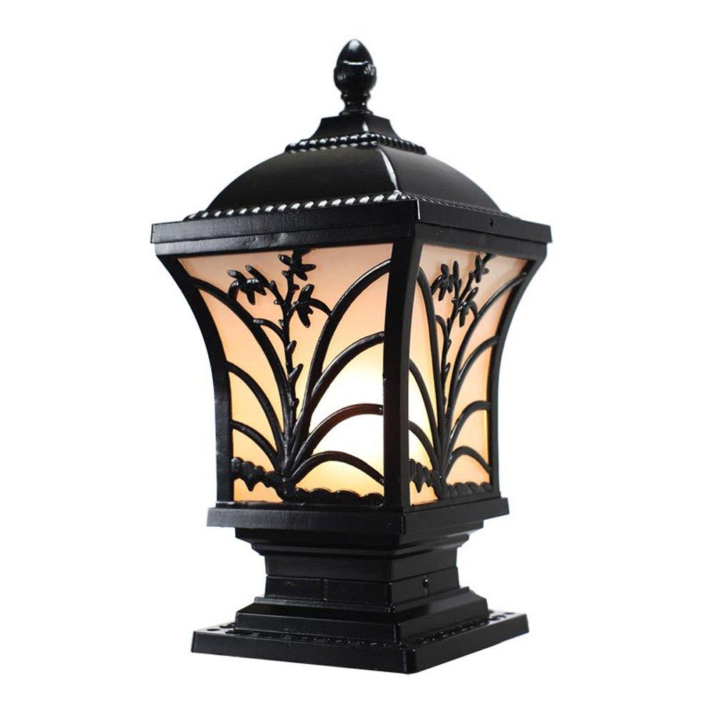 Neixy - 屋外防水壁の景色の列のヘッドライトのランタンユニークな創造的な人格の柱の照明の外観ヨーロッパのアルミヴィラの庭の入り口プールのエッジの結婚式のポストライトの装飾 (Color : Black 1, サイズ : 32cm) B07DDJNG34 16925 32cm|Black 1 Black 1 32cm