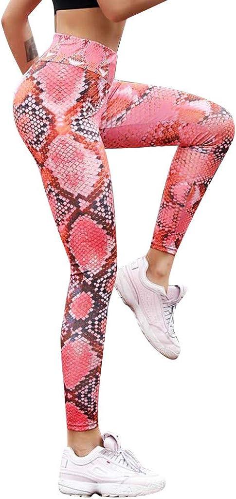 Kinlene Serpentine Leggings de Cintura Alta Serpentine Women Yoga Pantalones Leggins de Cuero de Malla