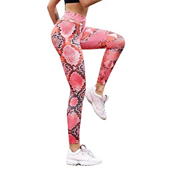 High Waist Yoga Pants Womens Print Active Gym Fitted Stretch Tights Workout Running Butt Lift Pants Yoga Leggings