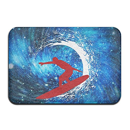 Indoor/Outdoor Area Rug Floor Mat With Surfing Clip Art Graphic For Dining 1 Clipart