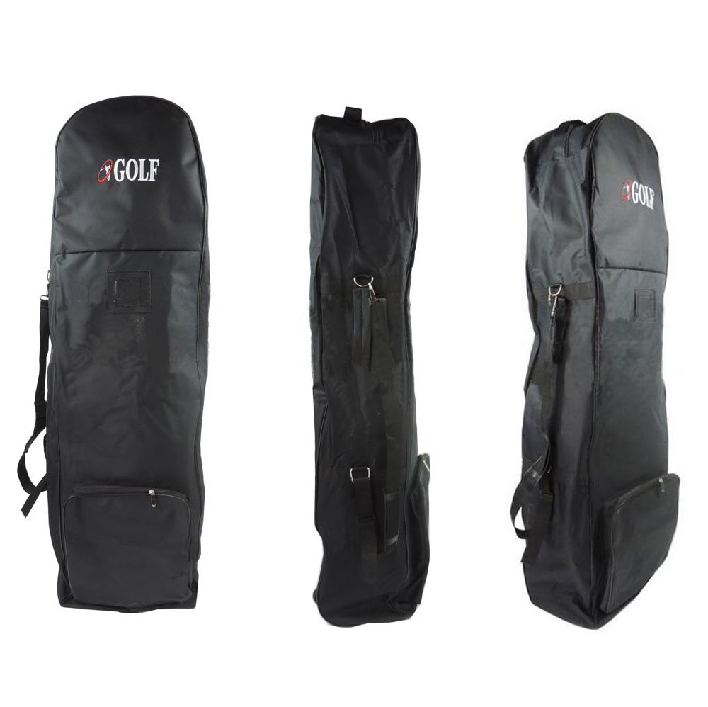 PLAYEAGLE Durable Nylon Waterproof Black Golf Travel Cover Bag with Wheels for Taylormade,Titleist and More Brand by PLAYEAGLE (Image #1)