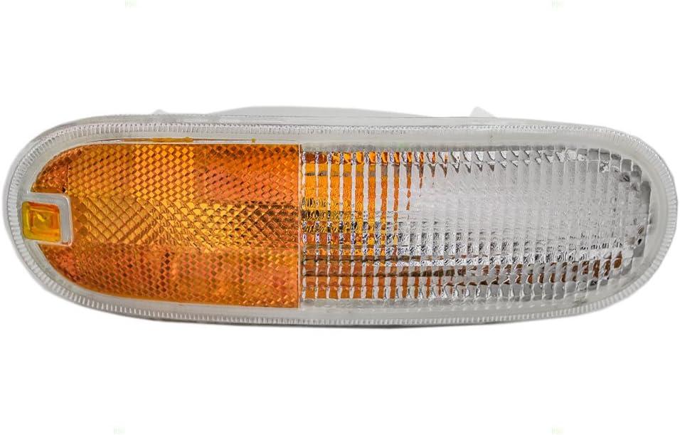Passengers Park Signal Front Marker Light Lamp Lens Replacement for Jeep 56005098 AutoAndArt