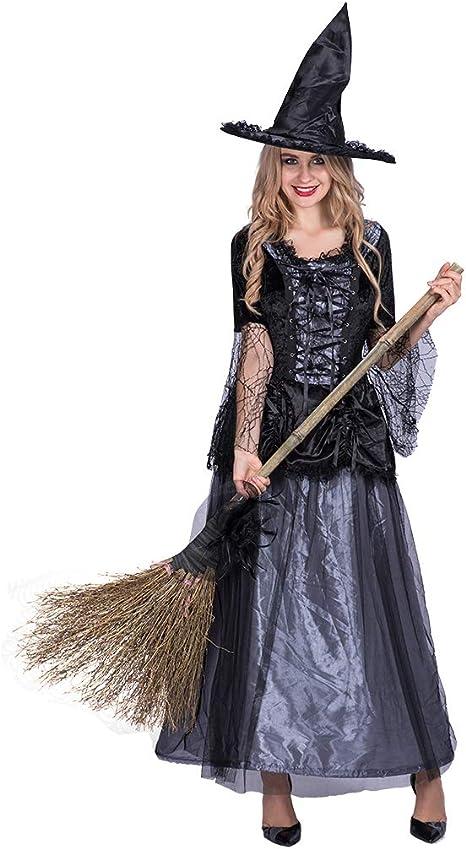 EraSpooky Disfraz de Bruja para Mujer Vestido de Fantasía Cosplay ...