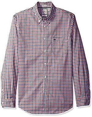 Men's Long Sleeve Oxford Bengal Stripe Button Front Woven Shirt