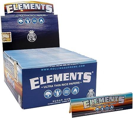 Papel de liar Elements - tamaño King, ultrafino Pack of 1 booklets Elements King Size Ultra Thin: Amazon.es: Hogar
