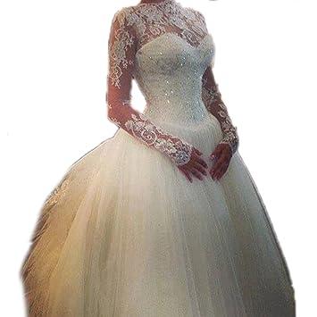 Corazones Encaje Sin Espalda Vestidos de boda de novia (