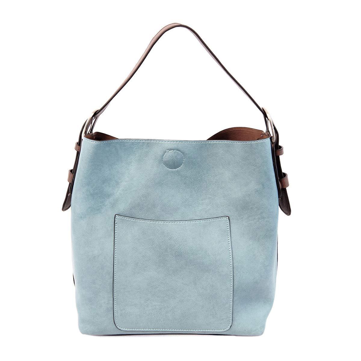 Joy Susan Classic Hobo Handbag (Light Denim Coffee Handle)