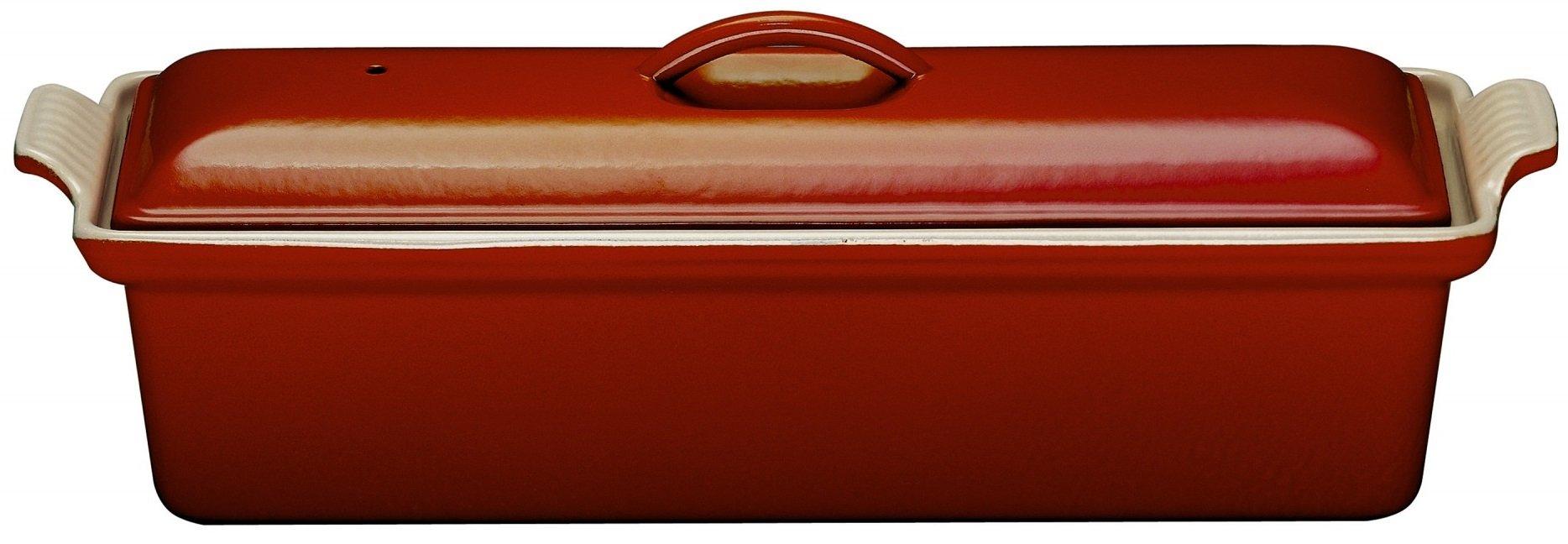 Le Creuset Enameled Cast-Iron 2 Quart Pate Terrine, Cerise (Cherry Red)