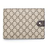 Gucci Beige Brown Signature Leather Wallet Guccissima style Box New #493075