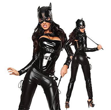 Erotic Devil Cat suit Women Naughty Halloween Costumes  sc 1 st  Amazon.com & Amazon.com: Erotic Devil Cat suit Women Naughty Halloween Costumes ...
