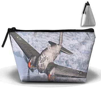 Sky-plane-fighter Oxford Cloth Wash Bolsas de maquillaje ...