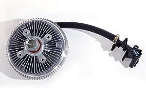 Electronic Radiator Cooling Fan Clutch Fit For 2002-07 Chevy Trailblazer GMC Envoy, Buick Rainier, Saab 9-7X Olds Bravada 4.2L 6.0L 15293048, 622-001