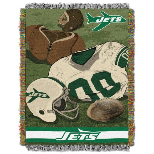 NFL New York Jets Vintage Woven Tapestry Throw, 48