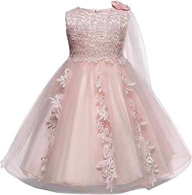 Amazon Com Baby Girls Princess Wedding Dress 0 18 Months Infant