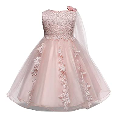 Amazon.com: Baby Girls Princess Wedding Dress 0-18 Months, Infant ...