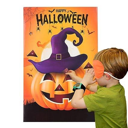 miss fantasy halloween jeux de fête épingler le nez sur le jeu de citrouille pour les enfants costume d'halloween