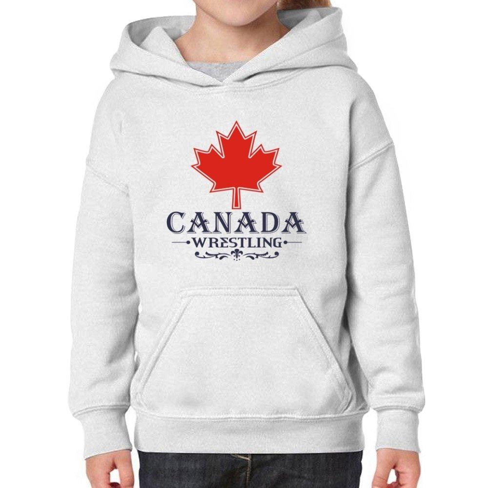 Teeburon Maple Canada Wrestling Girl Hoodie