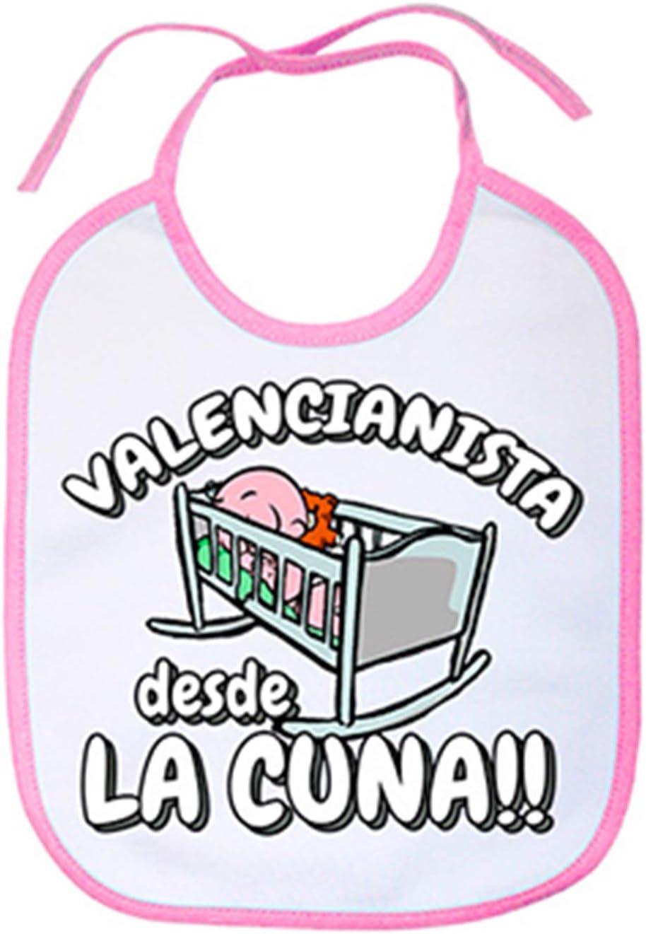 Babero Valencianista desde la cuna Valencia f/útbol Celeste