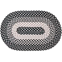 LOCHAS Braided Area Rug Hand Woven Reversible Oval Carpet for Living Room Bedroom Kitchen Rugs, 1.6 x 2.5