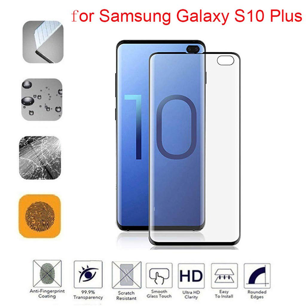 Hot Sale! Cyhulu 2019 New Fashion Clear Transparent PET Film Screen Protector for Samsung Galaxy S10 Plus 6.4 inch Phone