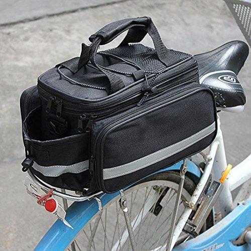 Garden Mile Fahrrad Radfahren Sport Wasserfest Hinterer Sitz Tasche Tragetasche Gepäck Tasche Fahrrad Zubehör Schultertasche Handtasche Tragetasche Schwarz Mit Regenhülle w0LoB