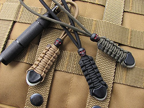 3 Premium Tactical Knife / Gear Lanyards by ZaneGear | MADE IN USA | For Tactical Outdoor Gear & Pocket Knives Such as Benchmade +more | Zipper Pulls/ Survival Keychain Lanyards