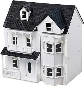 Amazon.es: HILIROOM Casa de muñecas de Madera Casa de Campo, Clásicos de Madera Casa de muñecas Victoriana, Casa de muñecas para niños, Tamaño Grande Exquisitamente diseñado con escaleras para niñas Niños: Juguetes