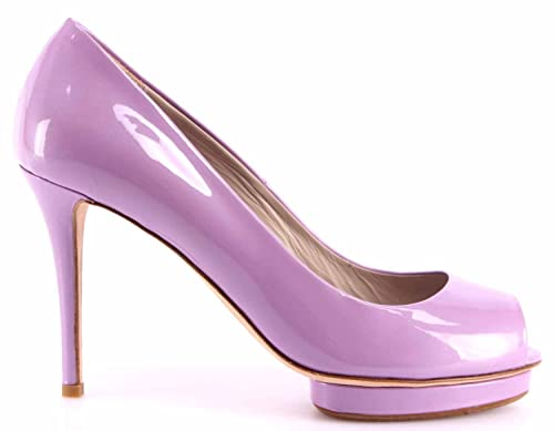 buy online 781e2 c2139 Le Silla Scarpe Decollete Spuntata Donna Pelle Lucida Lilla ...