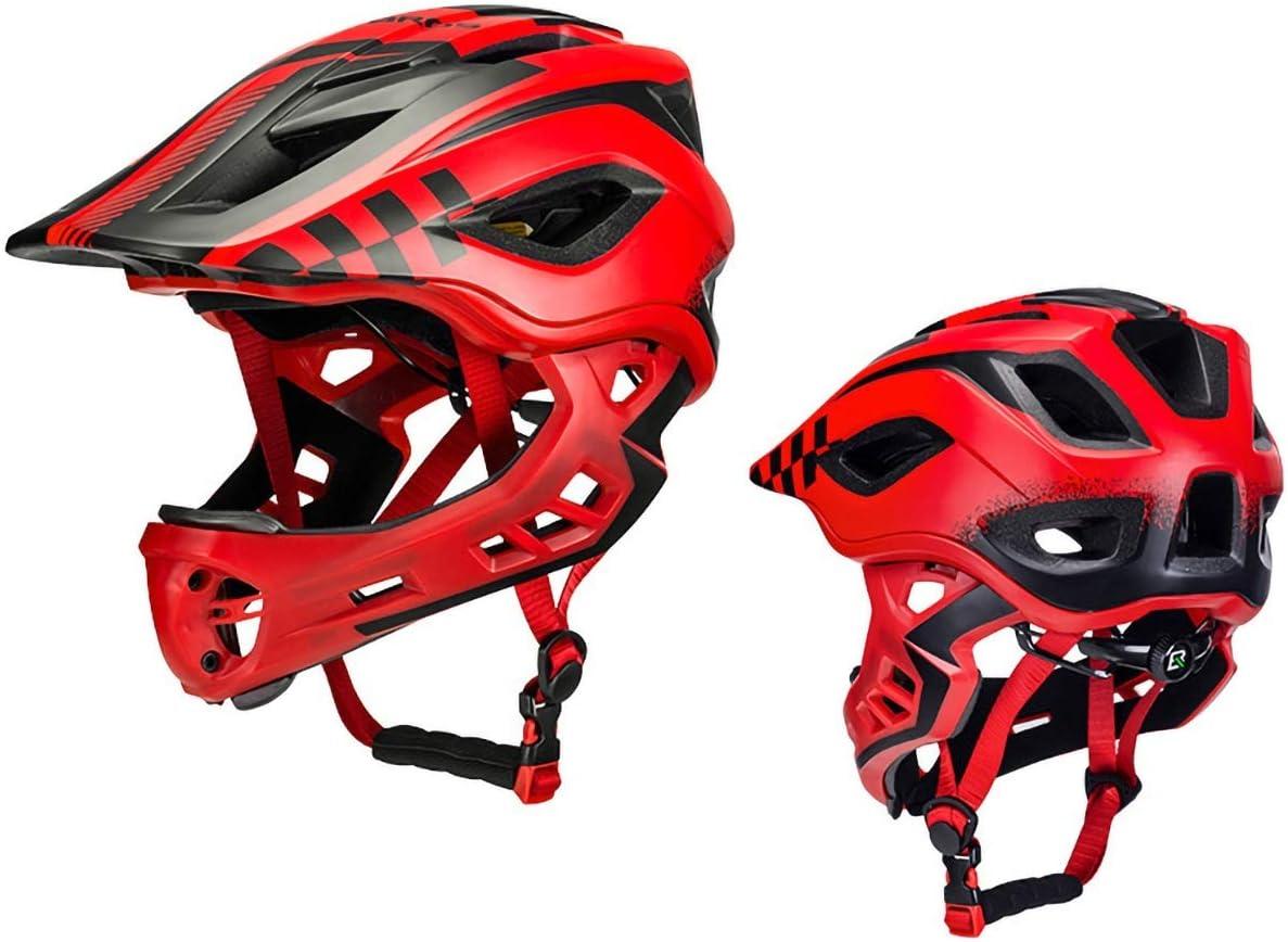 子供用自転車用ヘルメット キッズ/アダルトスケートボード&バイクヘルメット、調節可能、ロングスポーツ用マルチスポーツ、ローラースケート、インラインスケート、サイクリング、スクーター、ローラーブレード、3サイズ (Color : Red, Size : 50-54cm)