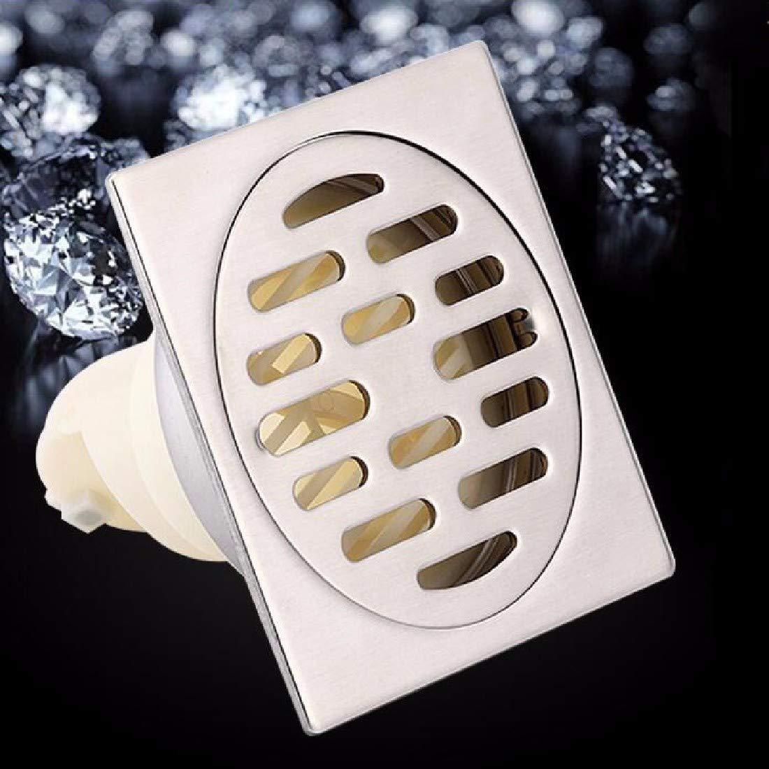 CJSHV Doccia A Pavimento Deodorante Scarico A Terra L'Acciaio Inossidabile 4 Scarico A Terra Bagno Doccia Balcone Generale,B.