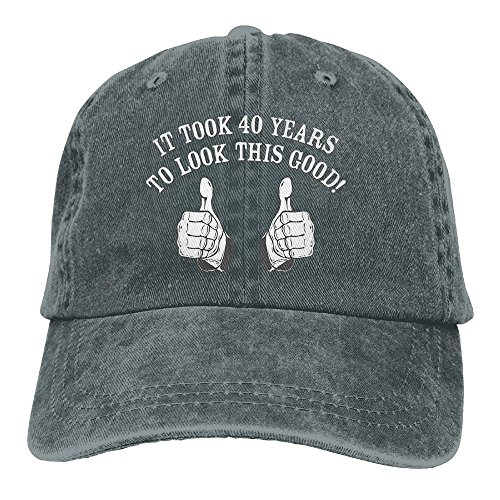 Richard It Took 40 Years To Look This Good! Unisex Cotton Washed Denim Travel Cap Hat Adjustable - Store Me Sunglass Near