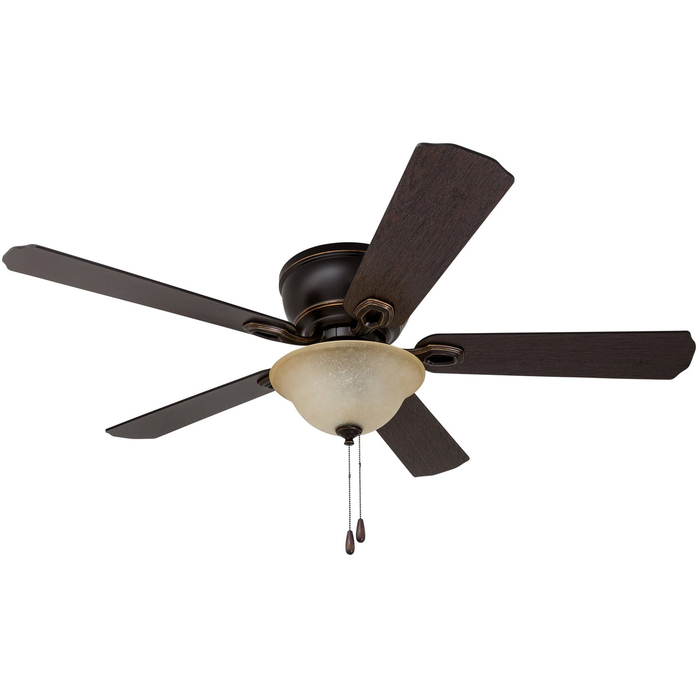 52'' Prominence Home Coors Creek, Hugger Ceiling Fan with Remote Control, Oil-Rubbed Bronze