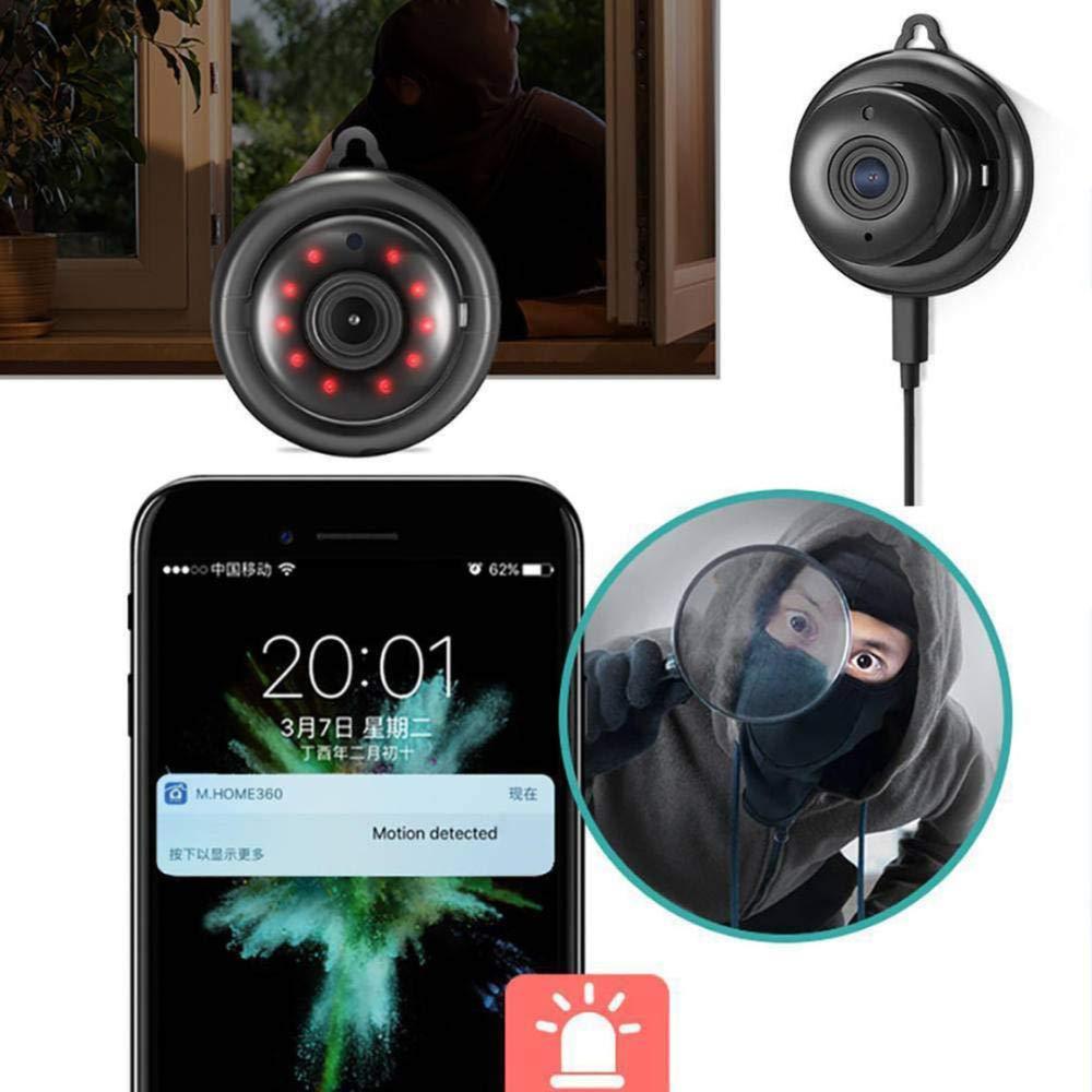 DYWLQ Mini c/ámara IP Oculta HD 1080P Inal/ámbrico WiFi Colmena C/ámara CCTV de Seguridad para el hogar IR Visi/ón Nocturna Infrarrojo Detecci/ón de Movimiento Ranura para Tarjeta SD Audio App contronl