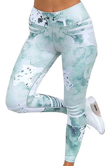 Damen Fashion Druck Hosen Sexy Skinny Hose Stretch Lange Pants Jogginghose  Schnelles Trocknen Atmungsaktiv Leggings für Yoga Sport  Amazon.de   Bekleidung a07784e027