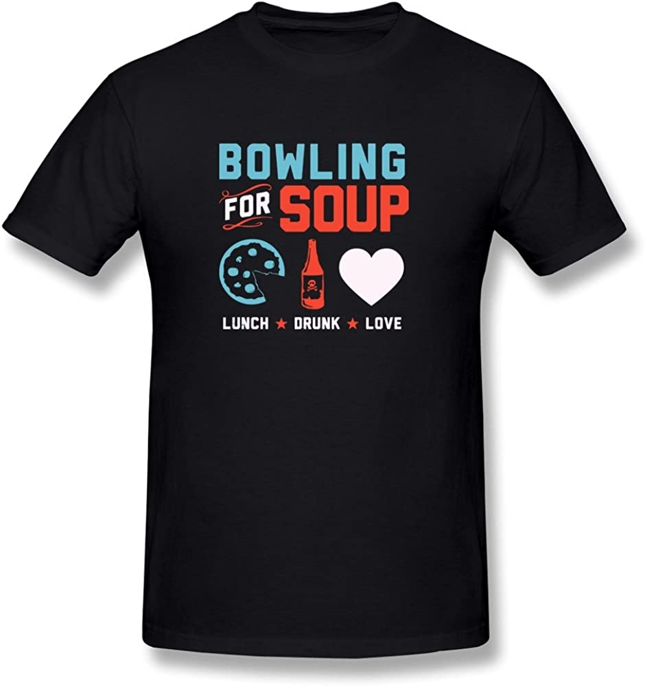 Seico Men's Bowling For Soup Punk Rock Band T-shirt
