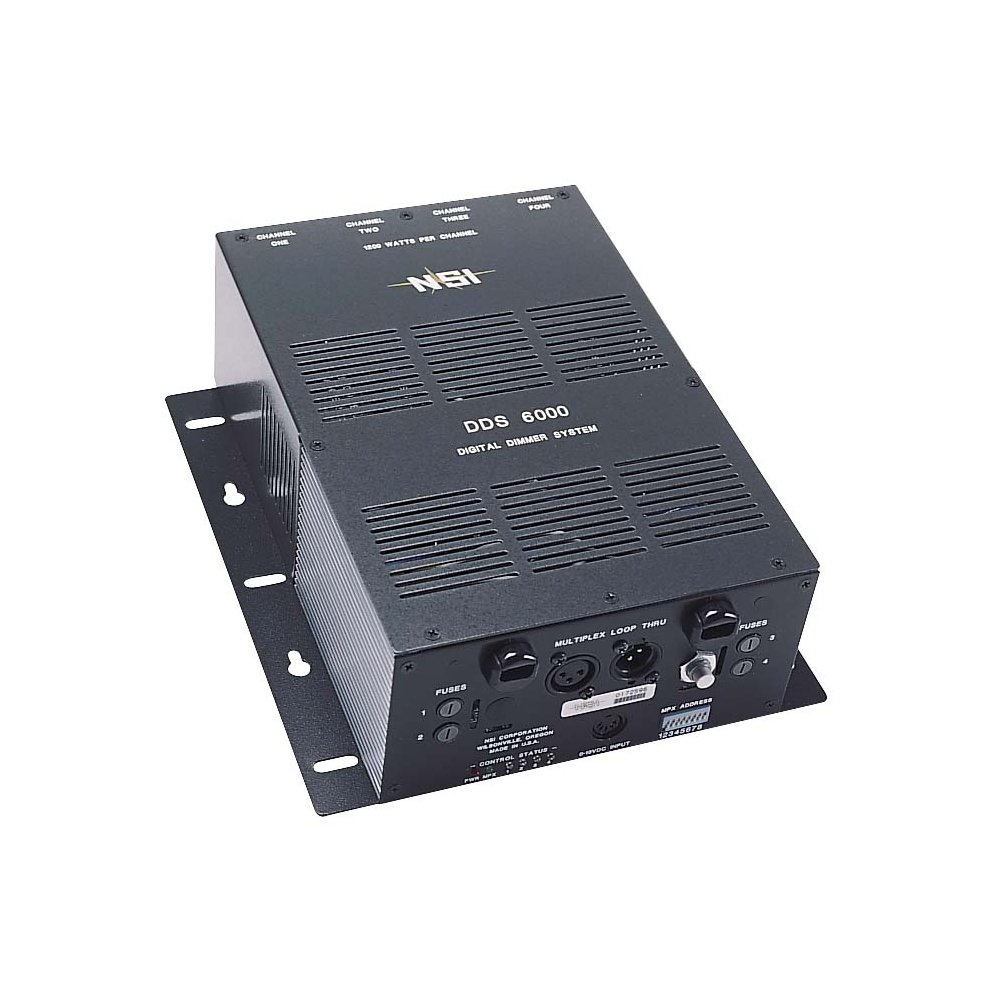 Leviton N6000-20 4-Channel 1200 Watt/Channel 2400 Watt Max 20-Amp Power Supply Cord, Dimmer/Relay System, Micro-Plex And 0-10V, 120V
