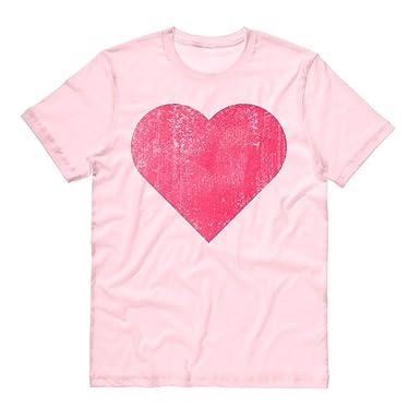 TeesAndTankYou Vintage Heart Shirt Unisex Small Pink