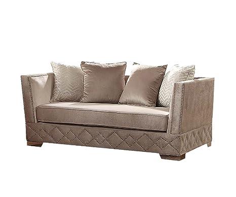 Amazon.com: Acme Tamara muebles Loveseat con 4 almohadas ...