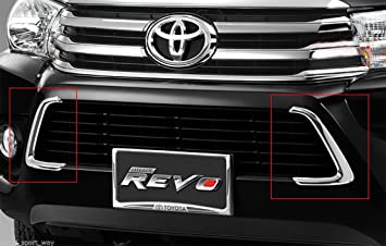 For 2015 Toyota Hilux SR5 Pickup 4WD Bumper Lower Grille Line Cover Chrome Oem