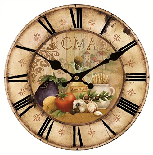 Vintage French Country Farm Vegetables Kitchen   Wall Clock